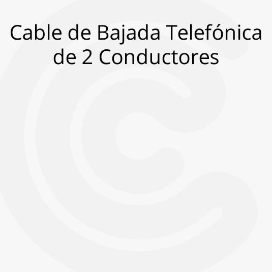 Cable de Bajada Telefónica de 2 Conductores