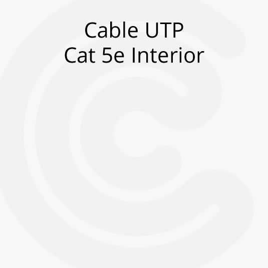 Cable UTP Cat 5e Interior