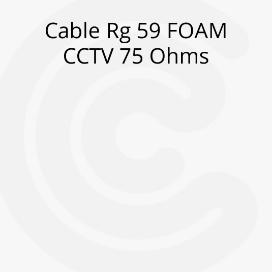 Cable Coaxil Rg 59 FOAM CCTV 75 Ohms