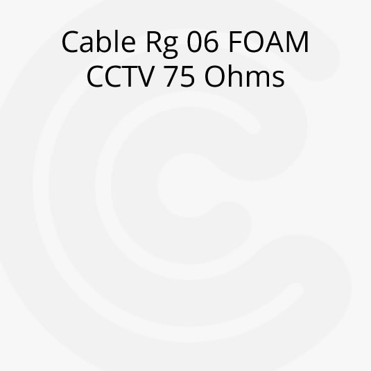 Cable Coaxil Rg 06 FOAM CCTV 75 Ohms