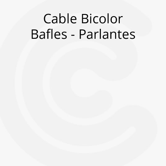 Cable Bicolor Bafle Parlante