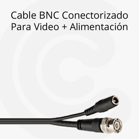 Cable BNC Conectorizado – Para video + alimentación